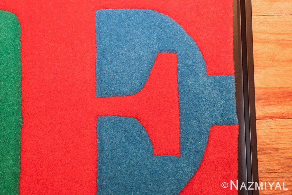 small size modern love rug by robert indiana 49739 letter Nazmiyal