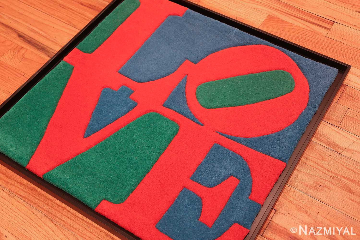 small size modern love rug by robert indiana 49739 side Nazmiyal