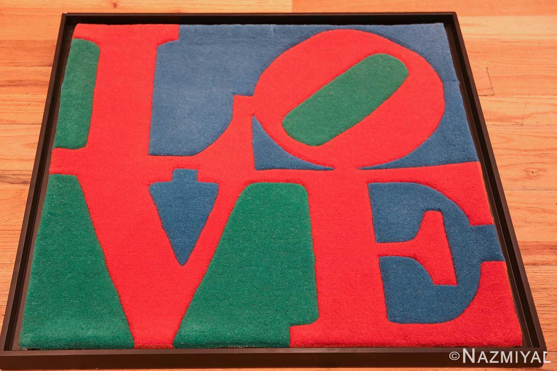 small size modern love rug by robert indiana 49739 whole Nazmiyal