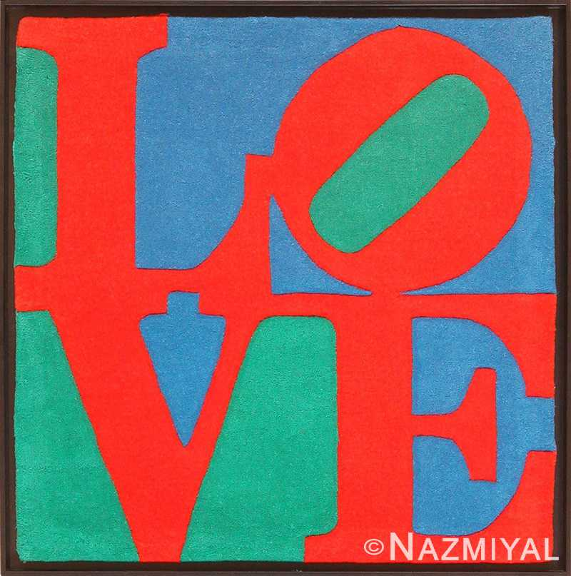 Modern Small Size Pop Art Love Rug by Robert Indiana 49739 Nazmiyal