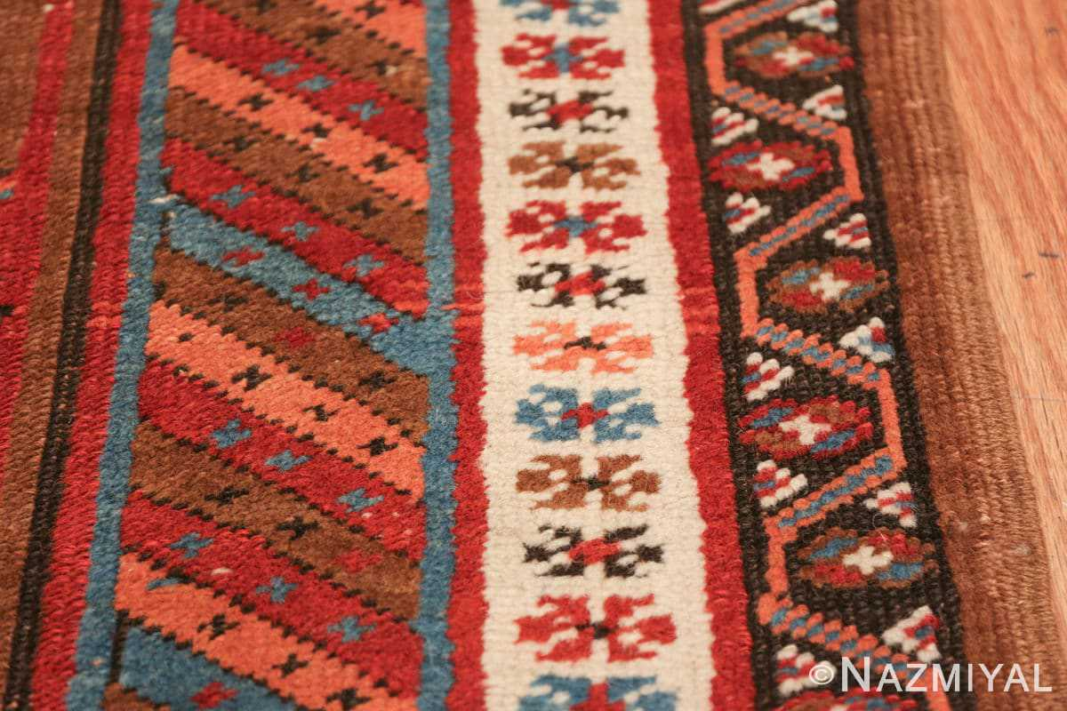 tribal antique persian bakshaish runner rug 49709 border Nazmiyal