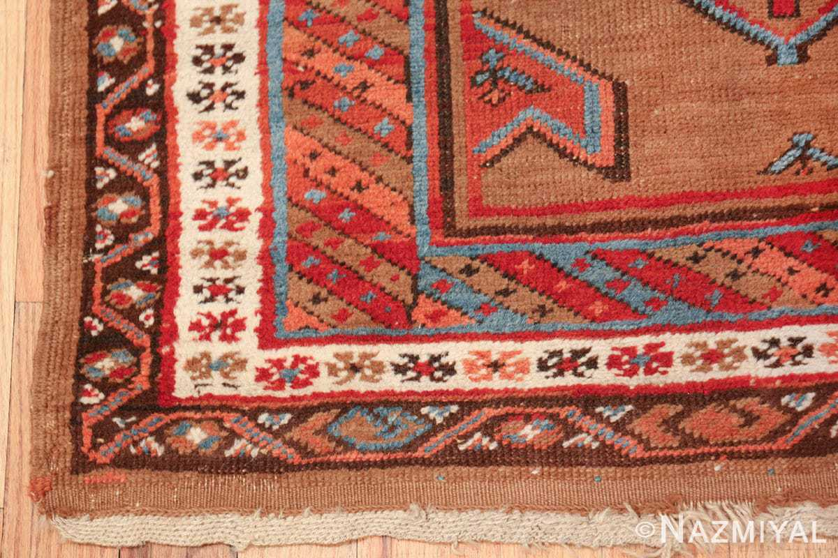 tribal antique persian bakshaish runner rug 49709 corner Nazmiyal
