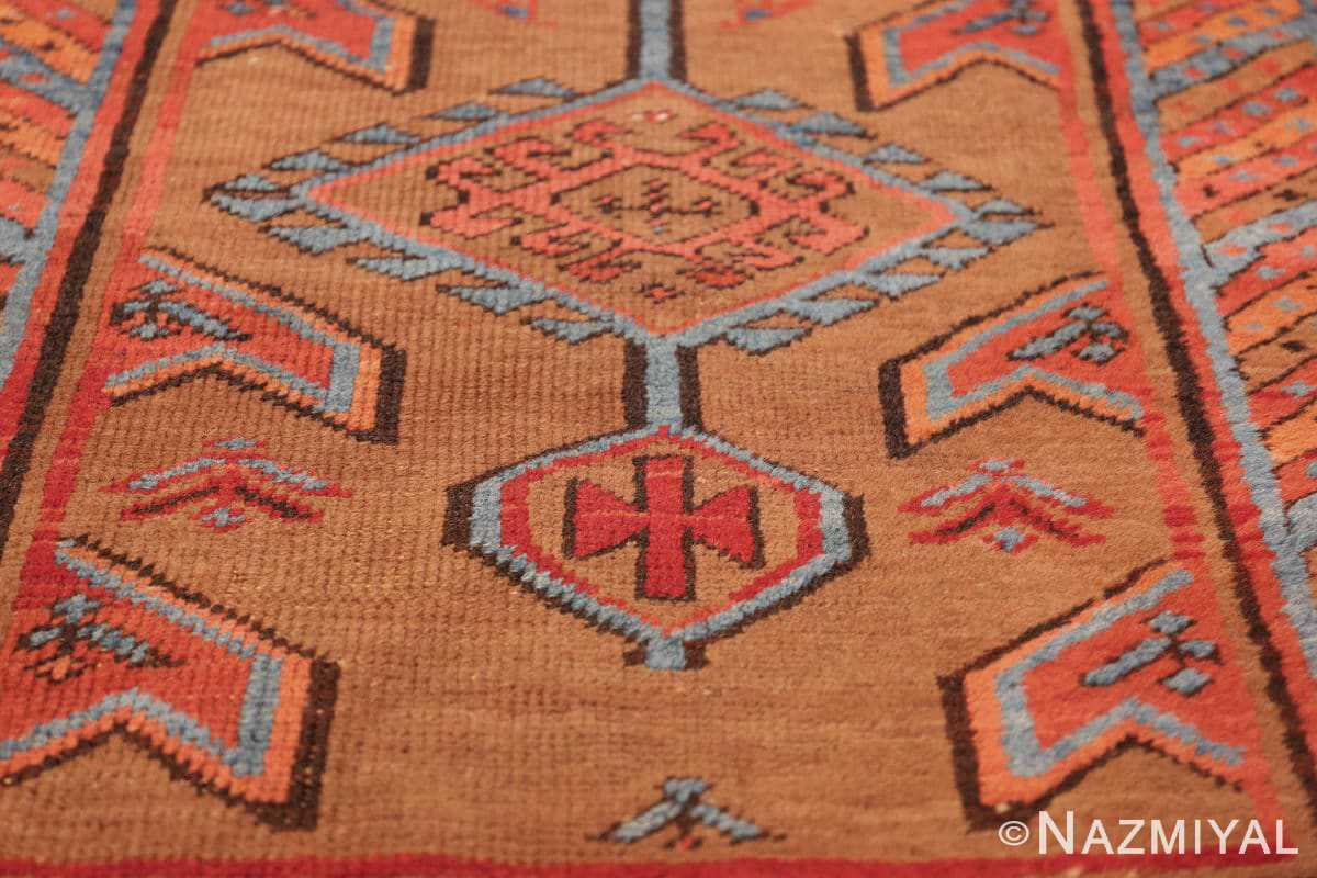 tribal antique persian bakshaish runner rug 49709 cross Nazmiyal