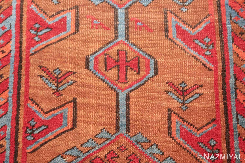 tribal antique persian bakshaish runner rug 49709 flower Nazmiyal