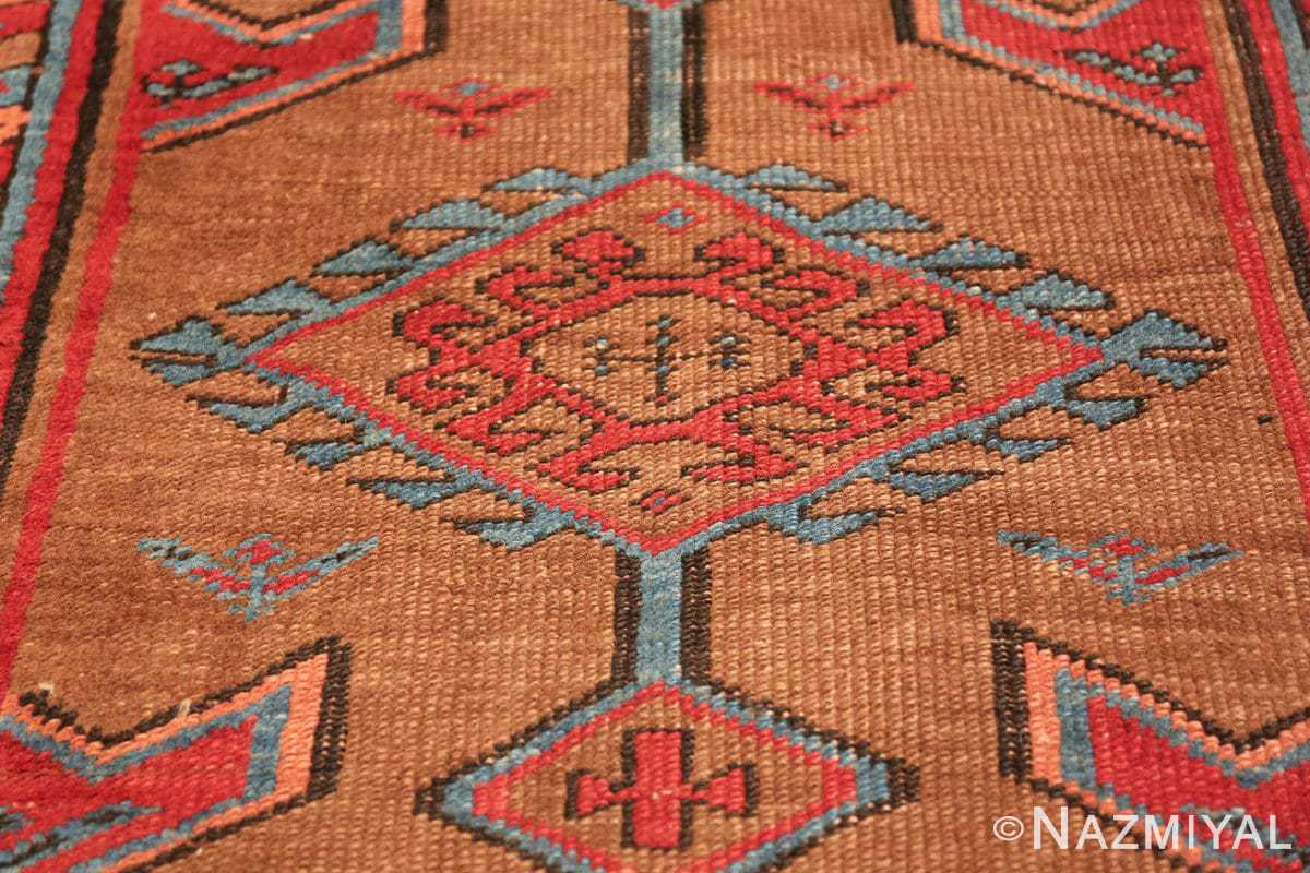 tribal antique persian bakshaish runner rug 49709 medallion Nazmiyal