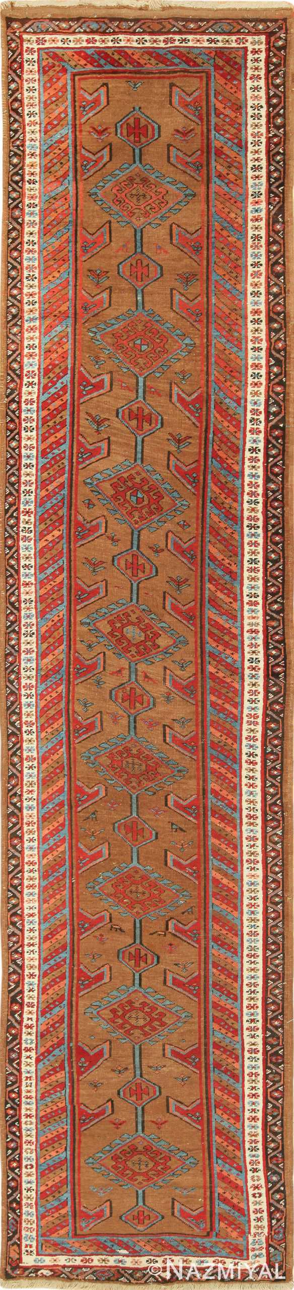 Antique Tribal Persian Bakshaish Runner Rug 49709 by Nazmiyal