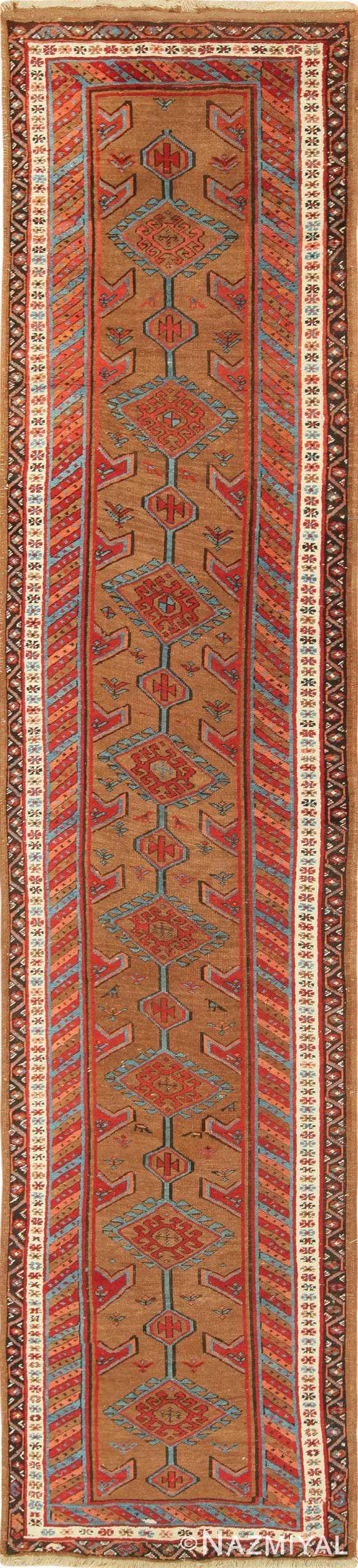 Antique Tribal Persian Bakshaish Runner Rug 49709 by Nazmiyal