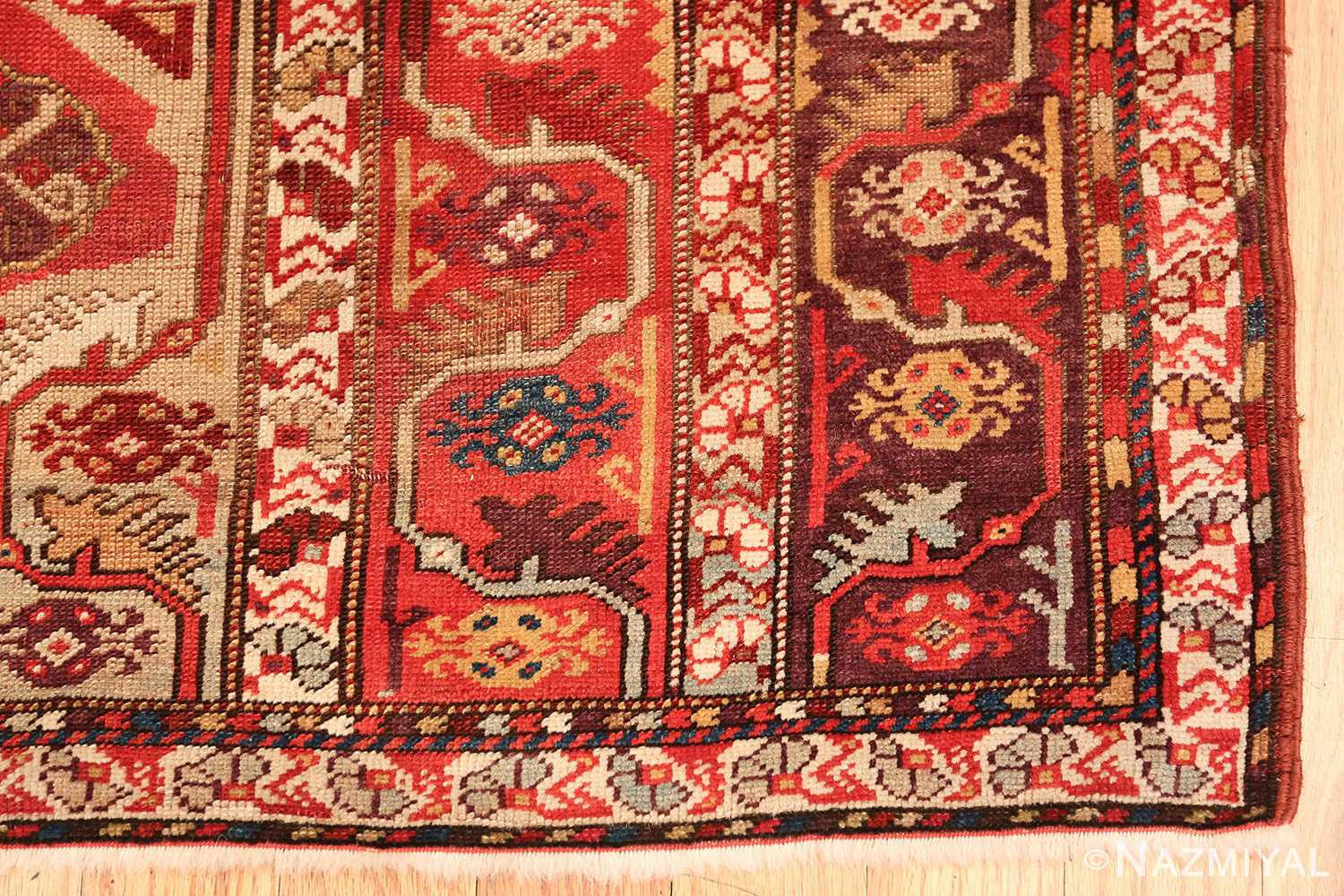 tribal antique turkish melas rug 49706 corner Nazmiyal