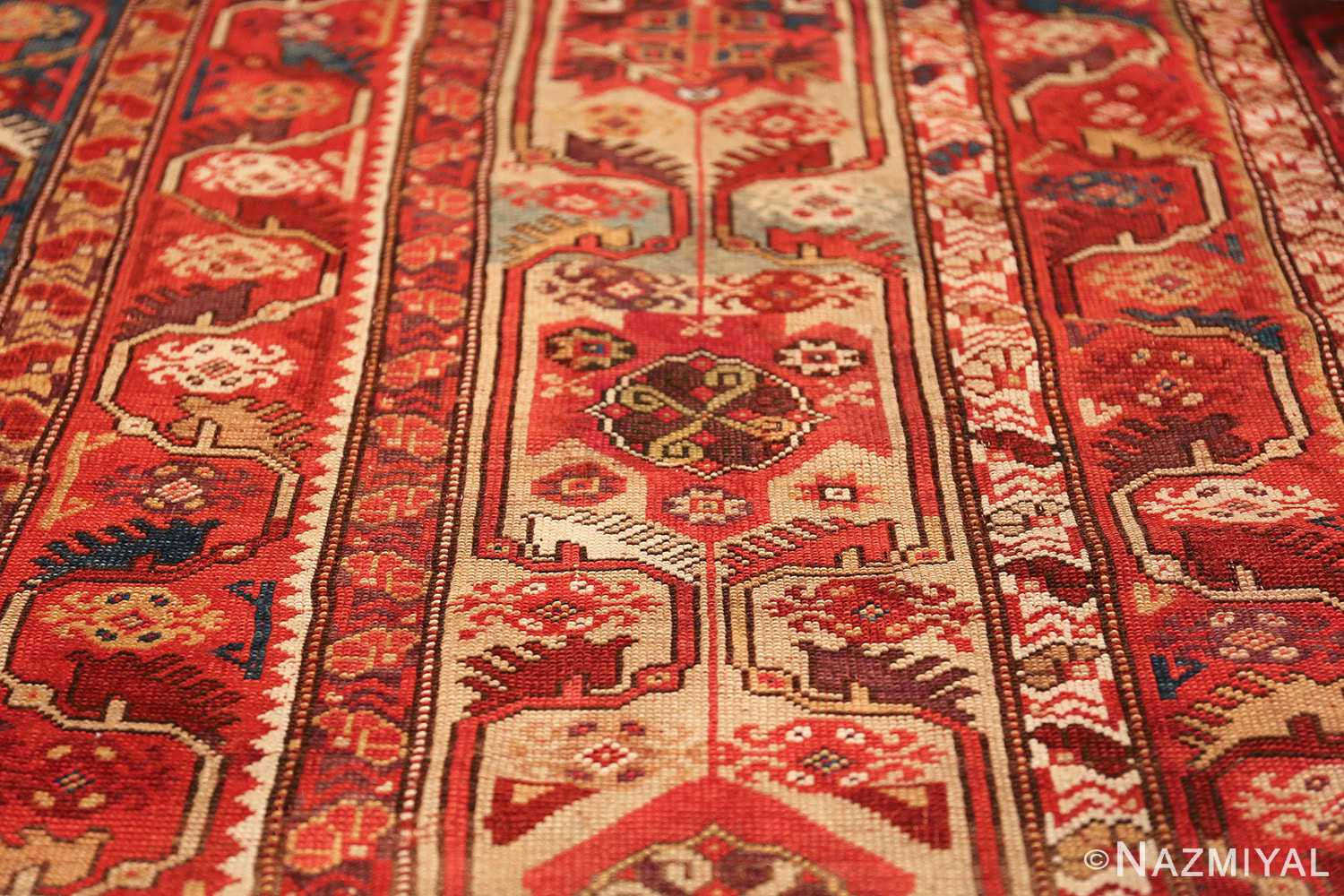 tribal antique turkish melas rug 49706 field Nazmiyal