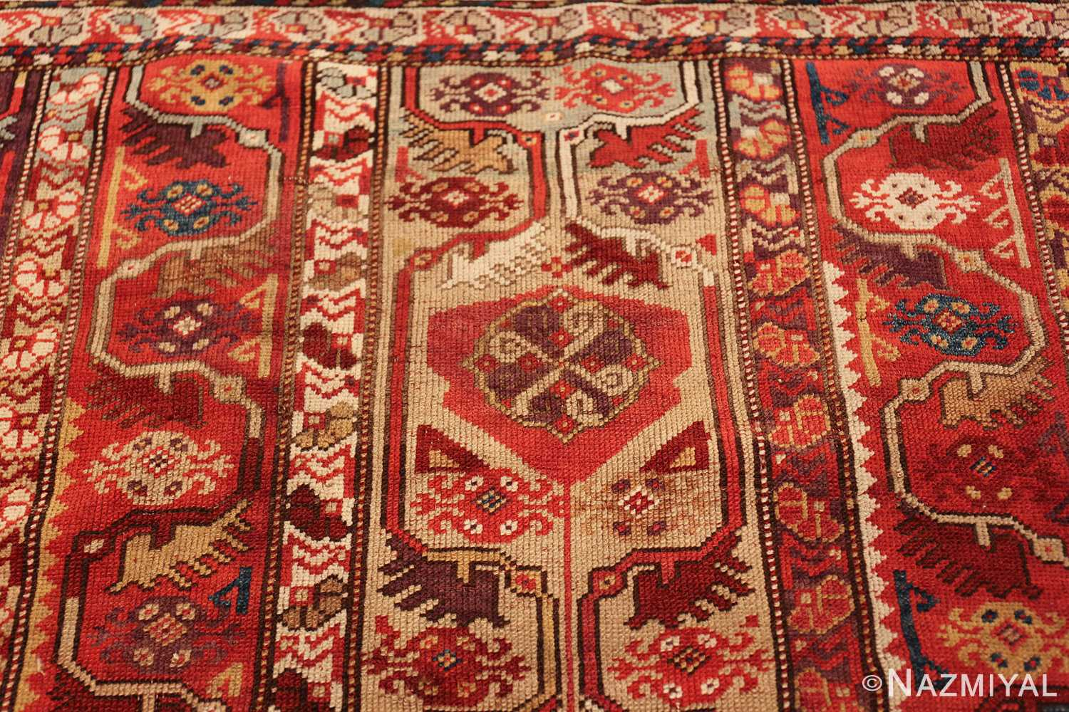 tribal antique turkish melas rug 49706 top Nazmiyal