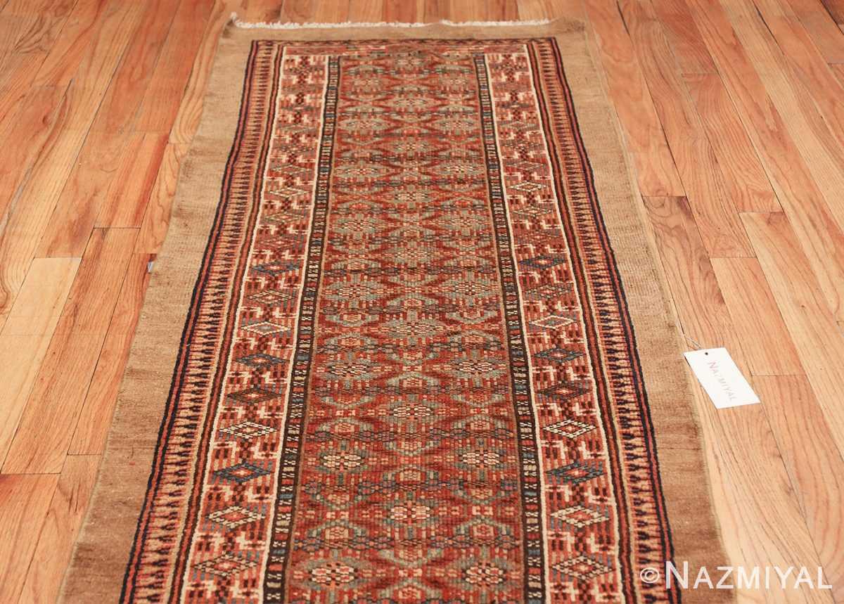 tribal long and narrow antique persian serab runner rug 49720 top Nazmiyal