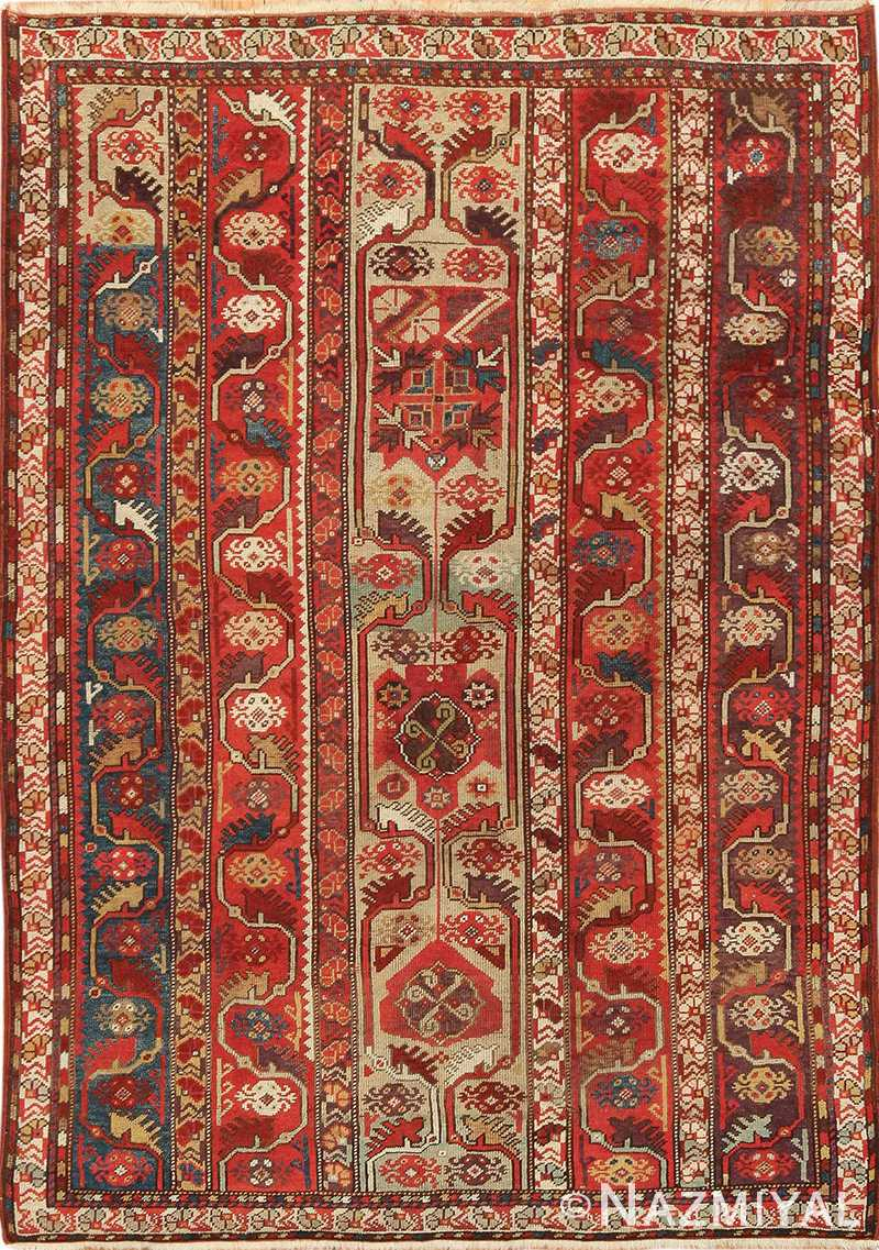 Small Antique Tribal Turkish Melas Rug 49706 by Nazmiyal