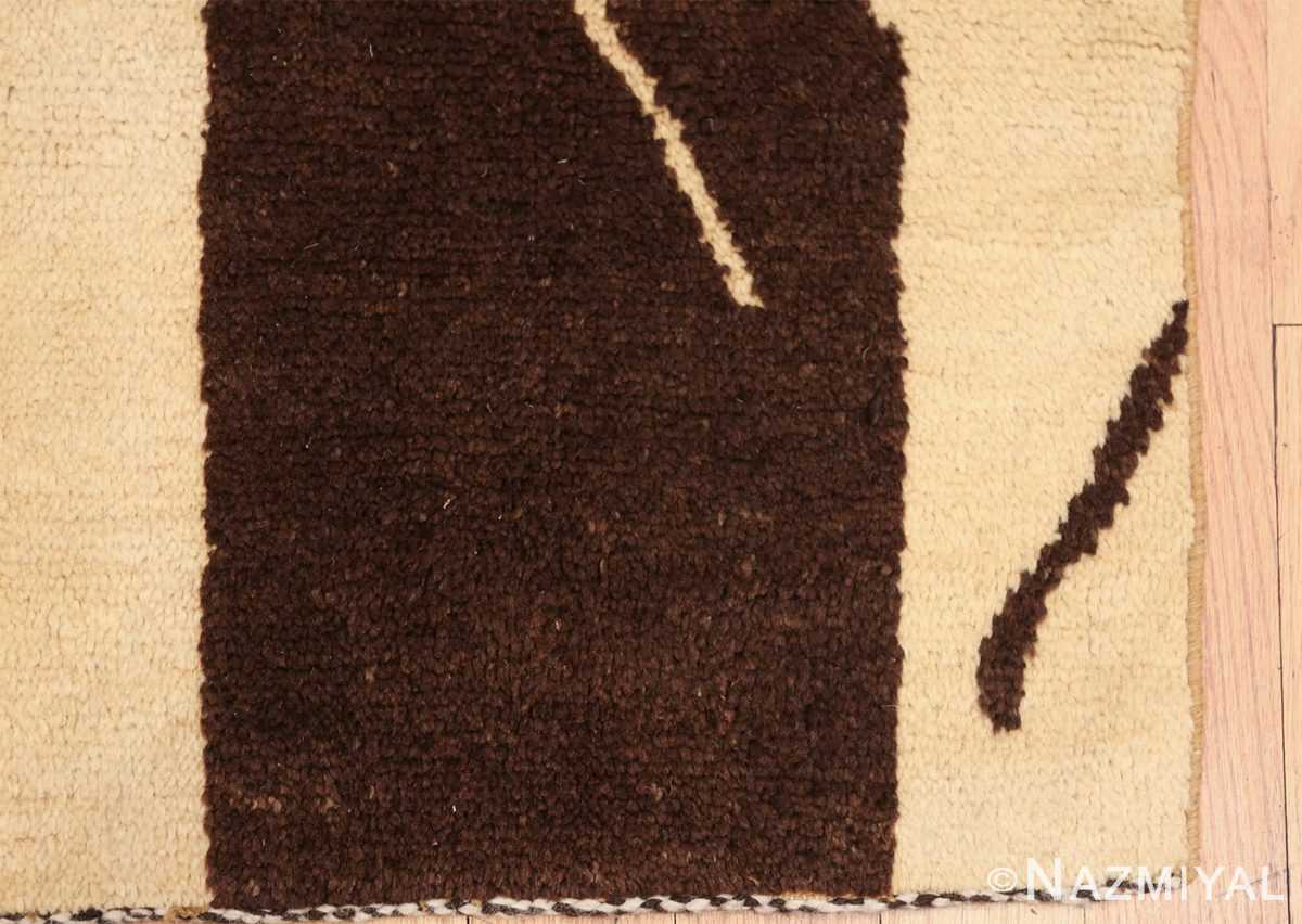 vintage geometric moroccan runner rug 49728 corner Nazmiyal