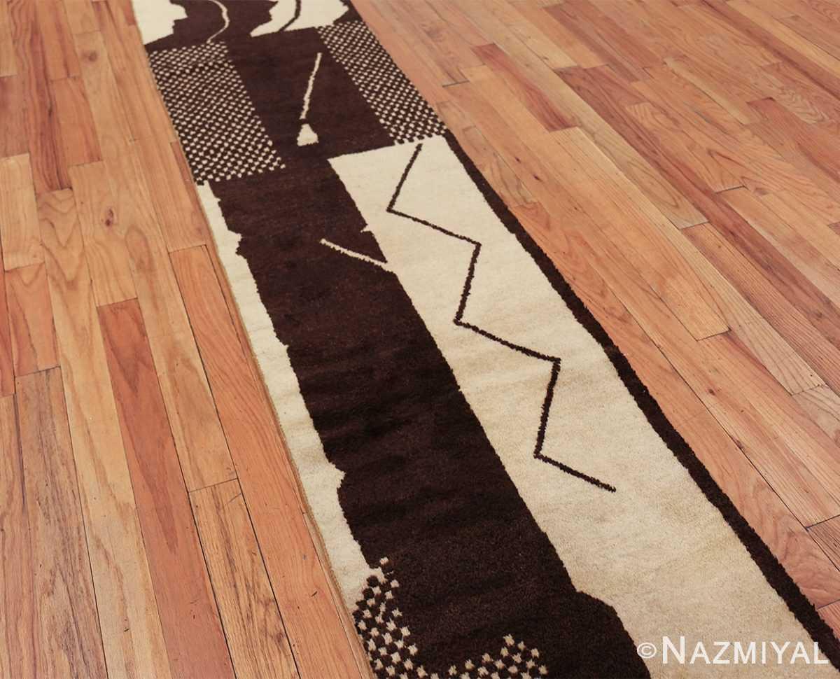 vintage geometric moroccan runner rug 49728 side Nazmiyal
