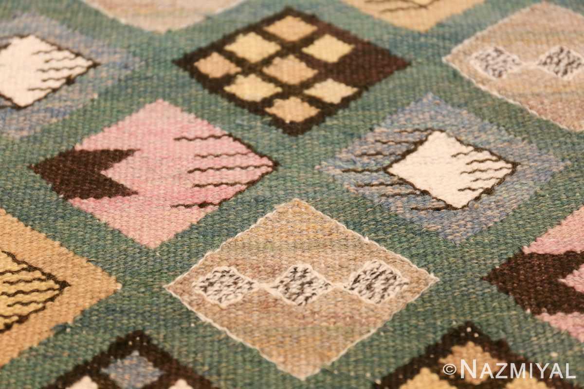 vintage scandinavian swedish kilim by marta mass fjetterstrom 49749 diamond Nazmiyal