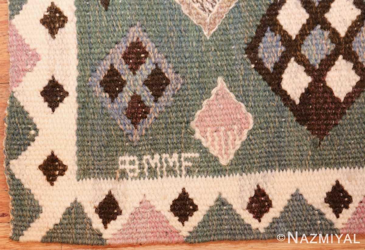 vintage scandinavian swedish kilim by marta mass fjetterstrom 49749 signature Nazmiyal