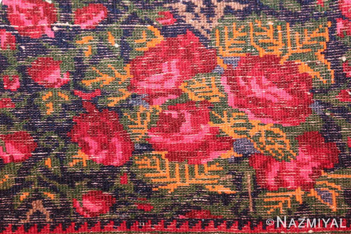 vintage small size persian qashqai rug 49738 knots Nazmiyal