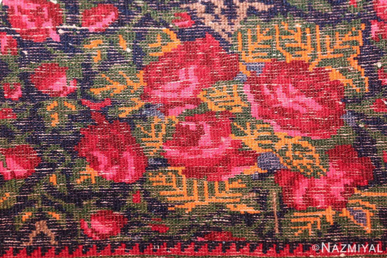vintage small size persian qashqai rug 49738 knots Nazmiyal