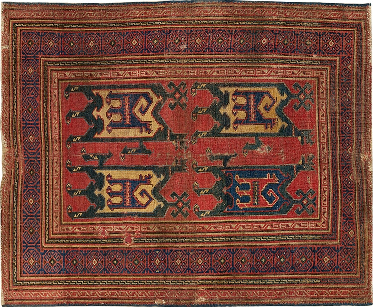 14th Century Marby Carpet From the Met Museum - Nazmyiyal