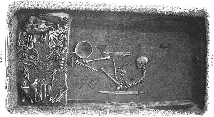 Ancient Viking Warrior Woman Grave at Birka Sweden - Nazmiyal
