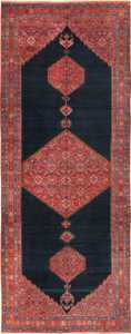 Wide Hallway Tribal Antique Persian Farahan Rug 49754 - Nazmiyal