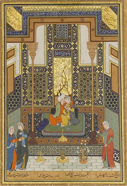 16th Century Painting by Shaikh Zada - The Marriage of Khosrow and Shirin - Nazmiyal