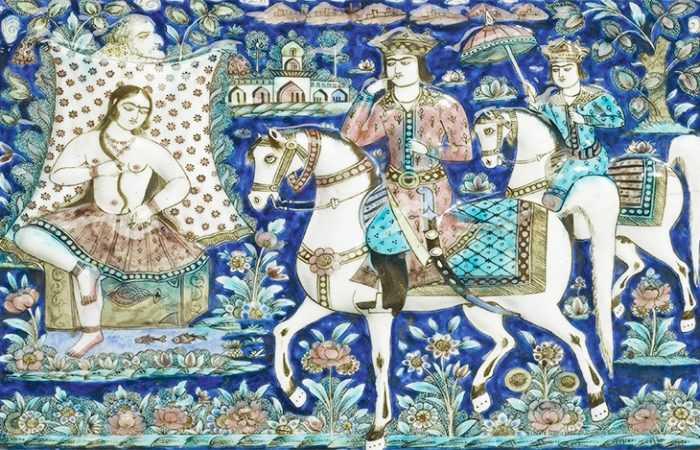 Persian Tragic Love Story Of Shirin and Khosrow - Nazmiyal