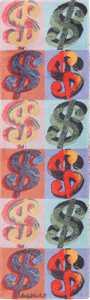 Scandinavian Ege Vintage Andy Warhol Dollar Sign Art Runner Rug 49792 by Nazmiyal