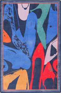 Vintage Scandinavian Ege Art Line Andy Warhol Diamond Dust Shoes Rug 49784 - Nazmiyal