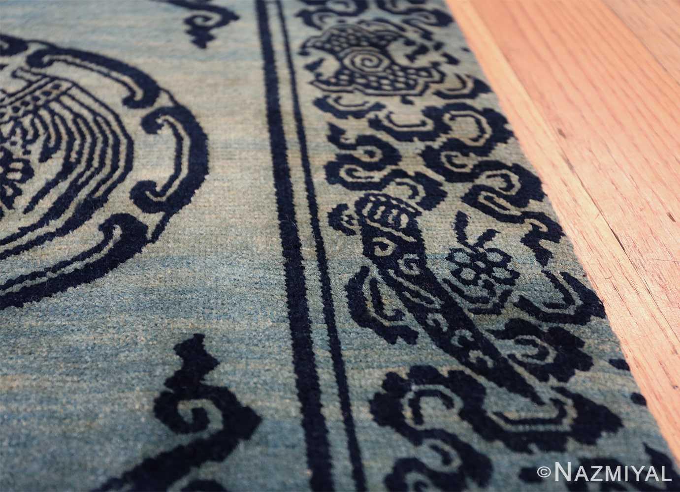 Antique Blue Background Tibetan Rug 49795 border knife Nazmiyal