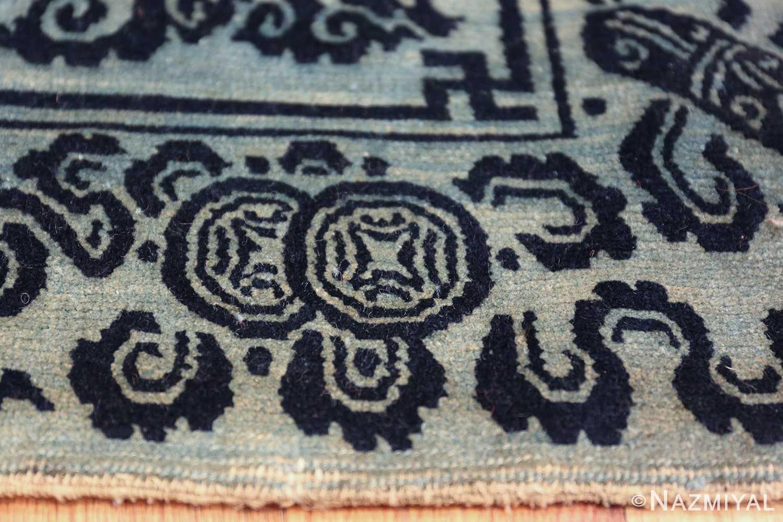 Antique Blue Background Tibetan Rug 49795 coins Nazmiyal