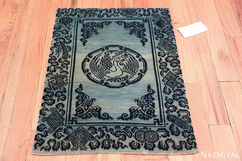 Antique Blue Background Tibetan Rug 49795 whole Nazmiyal
