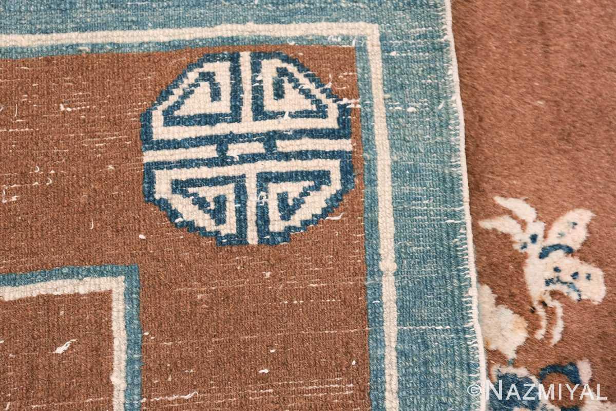 antique chinese rug 49767 knots Nazmiyal