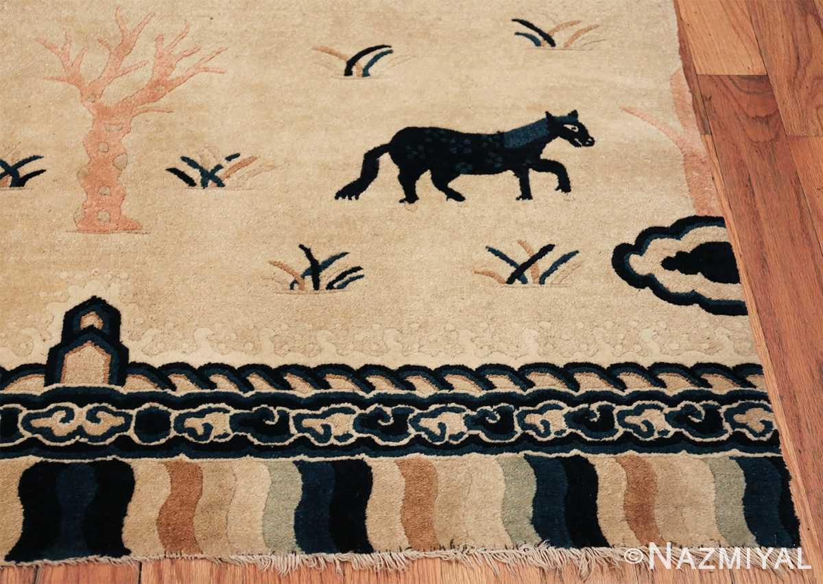 Antique Chinese Rug 49797 animal corner Nazmiyal
