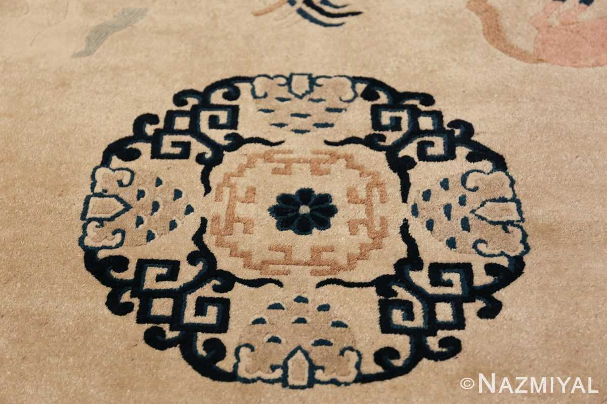 Antique Chinese Rug 49797 central medallion Nazmiyal
