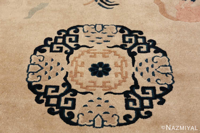 Antique Chinese Rug 49797 central medallion Nazmiyal