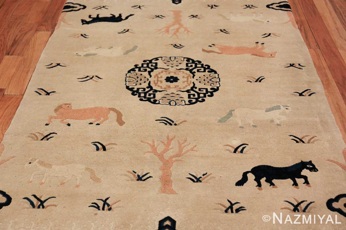 Antique Chinese Rug 49797 ivory field Nazmiyal