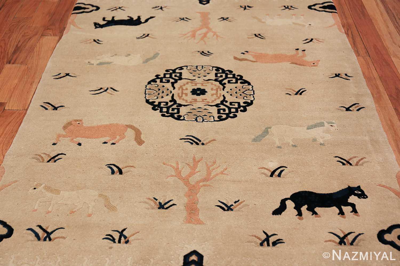 Antique Chinese Rug 49797 ivory field Nazmiyal