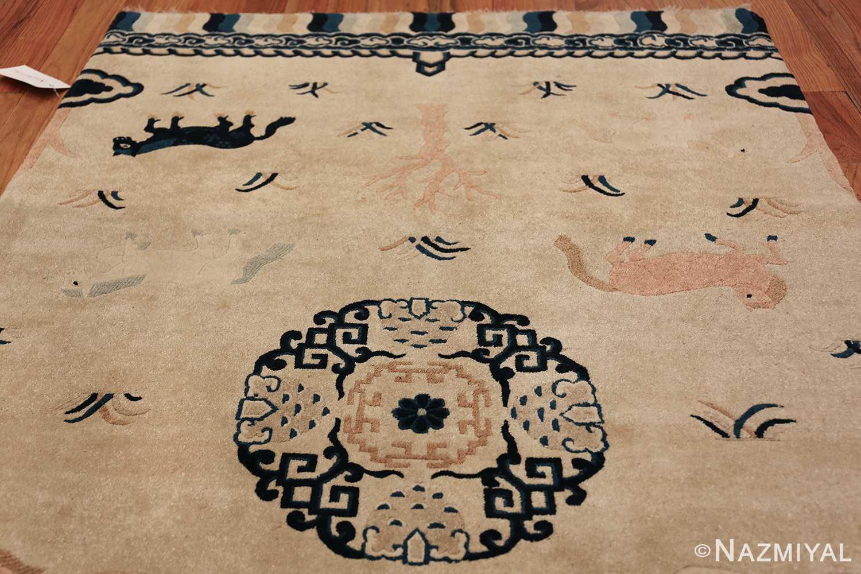 Antique Chinese Rug 49797 top design Nazmiyal