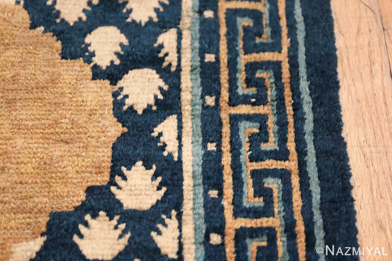Antique Navy Background Chinese rug 49799 border lines Nazmiyal