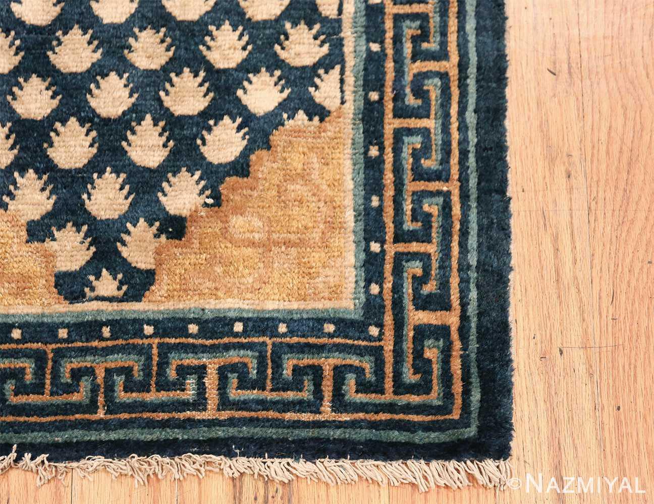 Antique Navy Background Chinese rug 49799 geometric corner Nazmiyal
