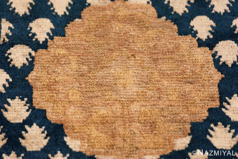 Antique Navy Background Chinese rug 49799 golden medallion Nazmiyal