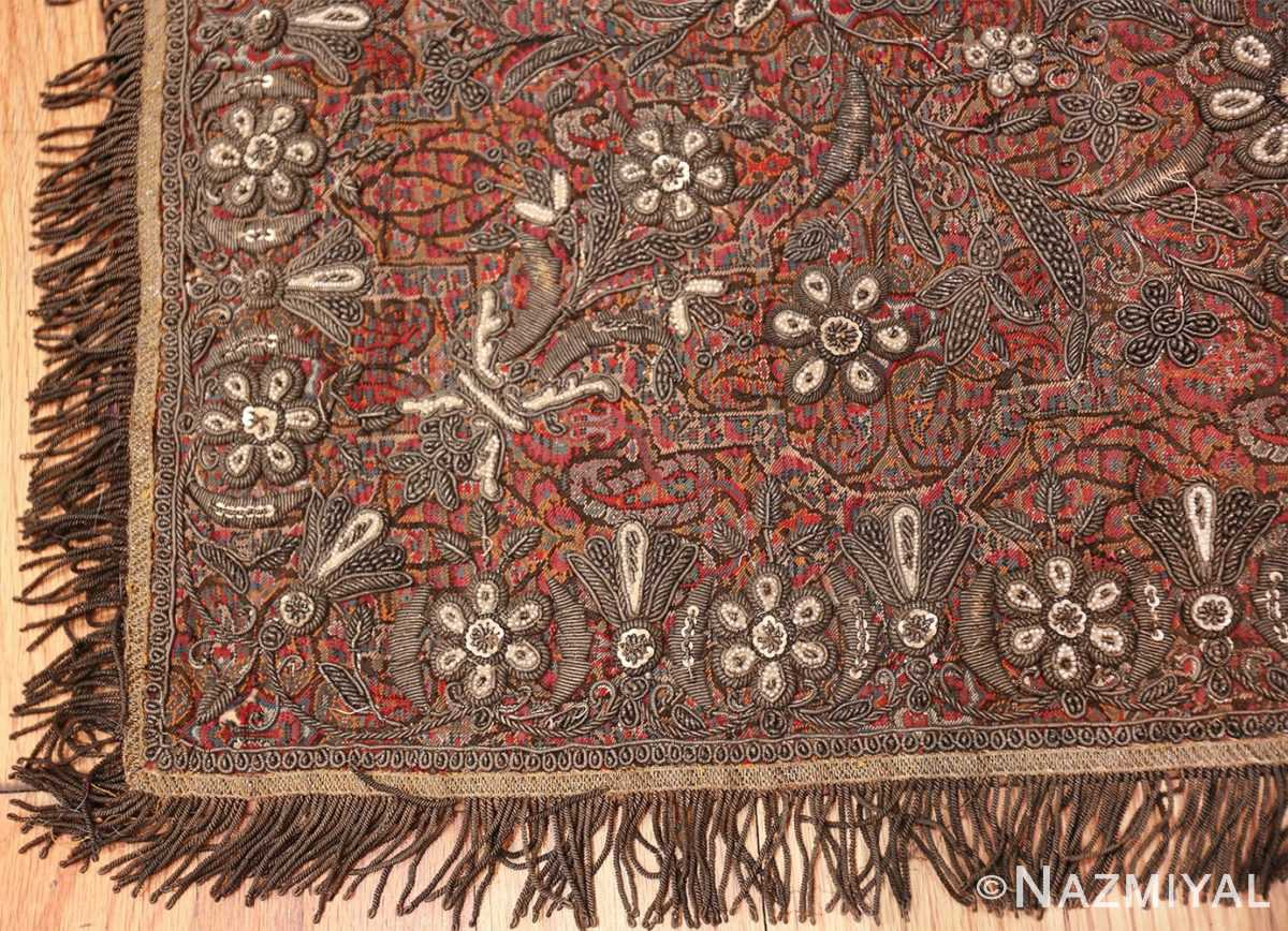 antique pearl and silver persian kerman embroidery 49779 corner Nazmiyal