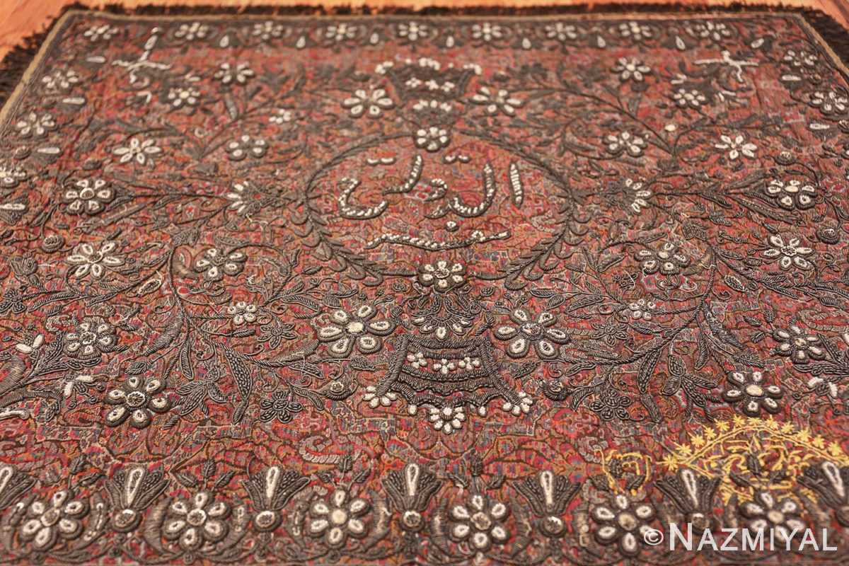 antique pearl and silver persian kerman embroidery 49779 field Nazmiyal
