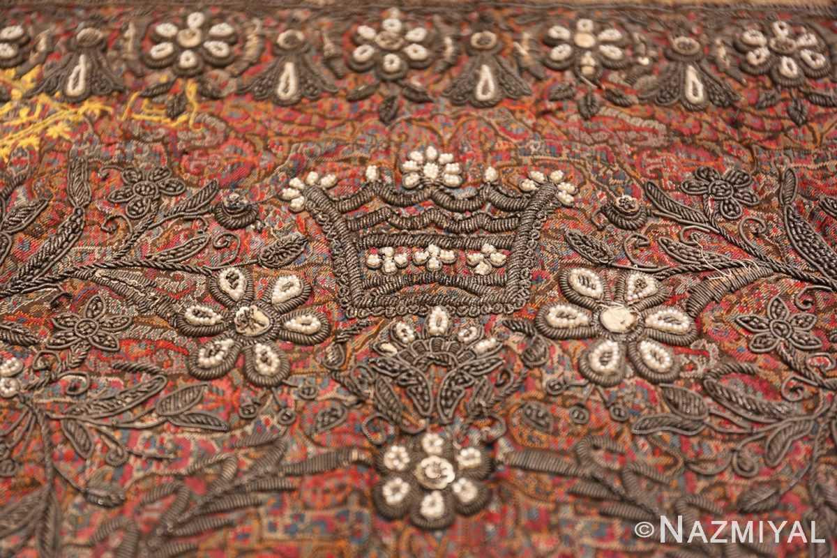 antique pearl and silver persian kerman embroidery 49779 tiara Nazmiyal
