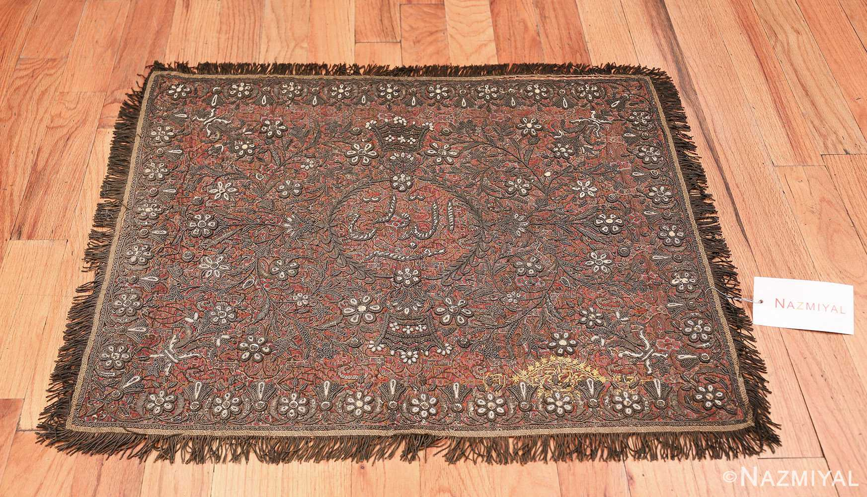 antique pearl and silver persian kerman embroidery 49779 whole Nazmiyal