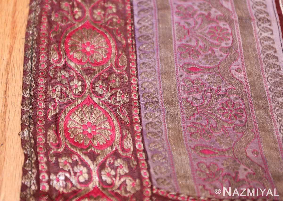 antique silk persian kerman textile 49782 border Nazmiyal