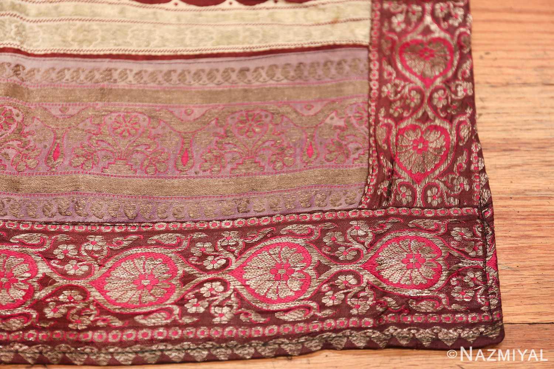 antique silk persian kerman textile 49782 corner Nazmiyal
