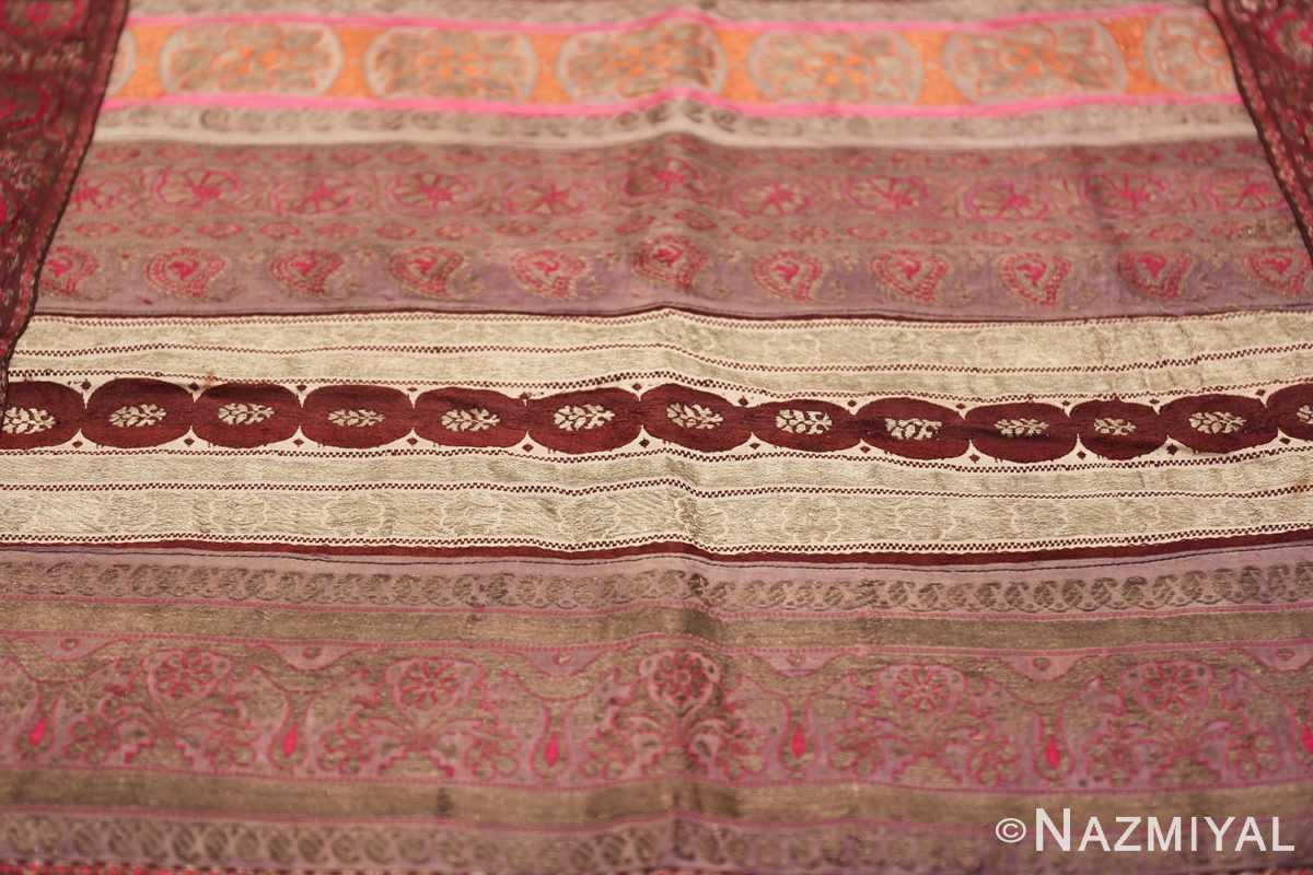 antique silk persian kerman textile 49782 field Nazmiyal