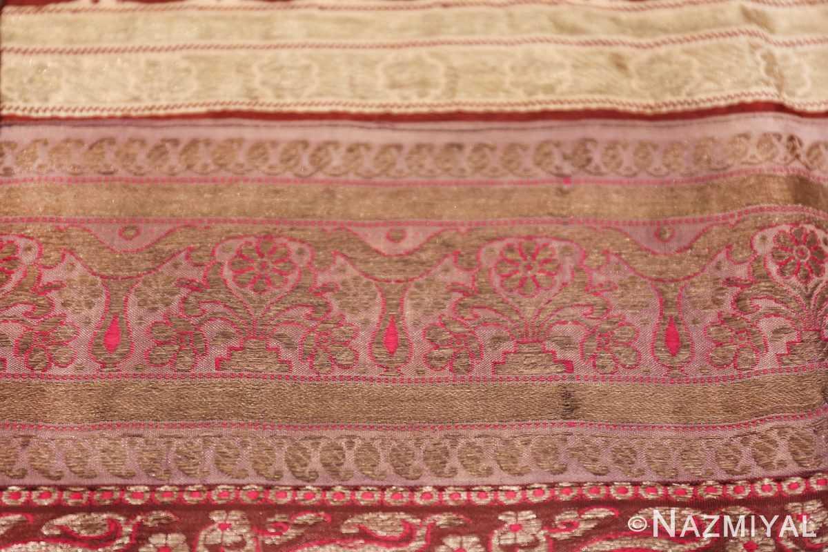 antique silk persian kerman textile 49782 golden Nazmiyal